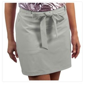 NWT ANTIGUA Bella Woven Skort Zipper Pockets M